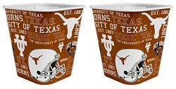 NCAA Texas Longhorns 3 Liter Reusable Plastic Snack Bucket 2 Pack