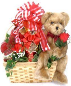 Teddy Bear Hugs Sweet Valentine's Day Gift Basket
