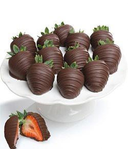 Belgian Dark Chocolate Covered Strawberries – 12 piece