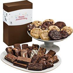 Fairytale Brownies Anniversary Deluxe Cookie & Sprite Combo Gourmet Food Gift Basket Chocola ...