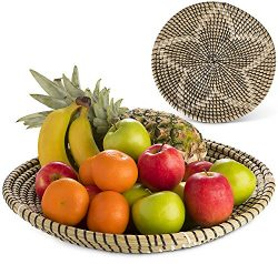 jiya living Fruit Bowl Large 15 inch for Kitchen Table Centrepiece Living Room for Fruit,Cookie, ...