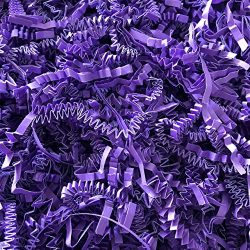 Black Cat Avenue 1 LB Purple Crinkle Cut Paper Shred Filler for Gift Wrap and Basket Filler