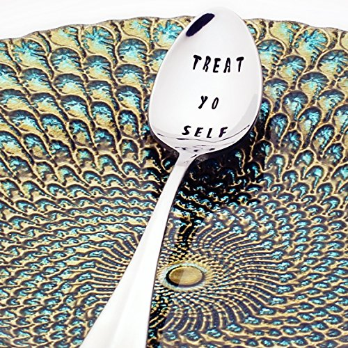 Parks and Recreation: Treat Yo Self – Stainless Steel Stamped Spoon | Stamped Silverware | ...