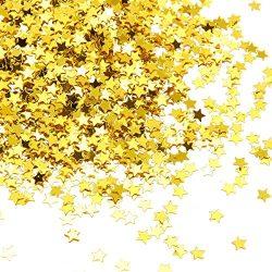 Star Confetti – Metallic Glitter Foil Confetti Star Sequins – Ideal for Balloons, Ta ...
