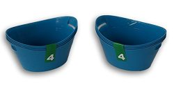 Bowls Craft Organization Plastic Containers – 8 Pack ( Blue )