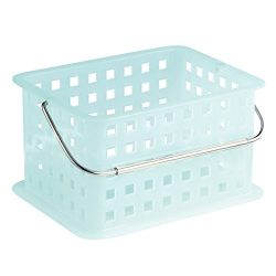 InterDesign Spa Basket, Small, Water (Light Blue)