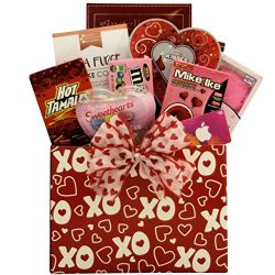 GreatArrivals Valentine's Day Gift Basket for Tweens & Teens Hugs & Kisses with iT ...