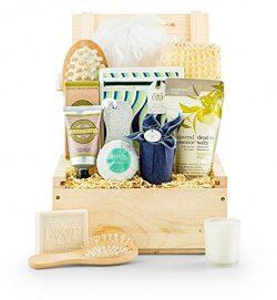 GiftTree Relaxing Retreat Spa Gift | Pampering Gift Basket of Bath and Body Essentials – P ...