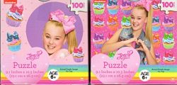 JoJo Siwa Puzzles in Cube Shaped Box Perfect for Stocking Stuffers Bundle of 2 Items – 2 1 ...