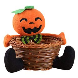 Candy Basket,AutumnFall Clearance Sale! Hand-Woven Doll Fruit Decoration Bowl Halloween Ghost Ca ...