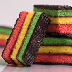 Delicious Home-style Italian Rainbow Cake Cookies, Perfect for – Christmas, Valentines Day ...