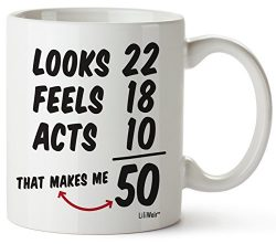 50th Birthday Gifts For Women Fifty Years Old Men Gift Happy Funny 50 Mens Womens Womans Wifes F ...