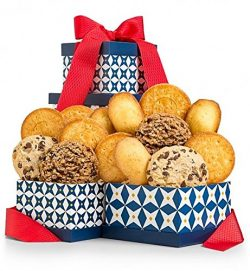 Gourmet Cookie Gift Box by GiftTree | 10 Count | Stackable Keepsake 2-Box Tower With Satin Ribbo ...