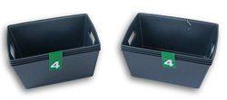 Dark Gray Plastic Crafting Organization Baskets – 8 Count