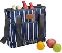 Insulated Tote Bag | Picnic Insulated Lunch Bag Carrier | Excellent Insulated Cooler Zipper Tote ...