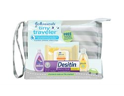 Johnson's Tiny Traveler Baby Gift Set, Baby Bath and Skin Care Essential Products, TSA-Com ...