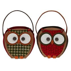 DII Owls Gift Basket, 6.75″ (W) x 3.5″ (L) x 6.75″ (H), Set of 4 with 2 design ...