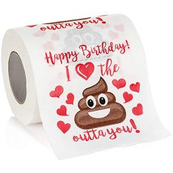 Maad Romantic Happy Birthday Novelty Toilet Paper – Funny Gag Birthday Gift for Him or Her