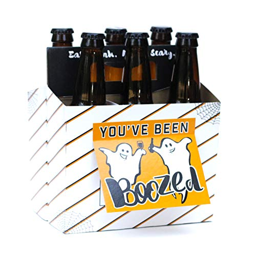 Halloween Gifts for Adults! Fill with Halloween Beer! Six Pack Greeting Card Box (Set of 4 Card  ...