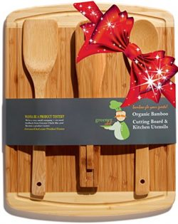 Bamboo Cutting Board & Cheese Board Housewarming Gifts Set – For Mothers Day Gift, Wed ...