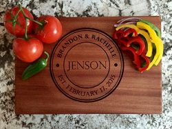 Personalized Gifts Couples Cutting Board – Wood Cutting Boards Bridal Shower, Housewarming ...
