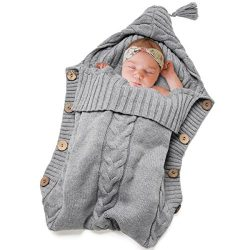 Newborn Baby Swaddle Blanket-Truedays Large Swaddle Best Soft Unisex for Boys or Girls (Grey) …