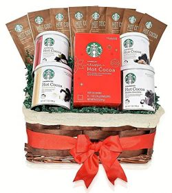 Starbucks Hot Cocoa Mixed Occasional Gift Basket – 5 Flavors: Double Chocolate, Peppermint ...
