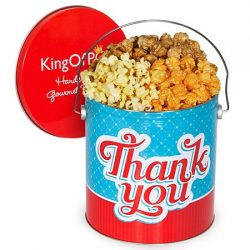 Thank You Popcorn Tin – Traditional Mix