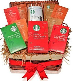 Starbucks Gift Baskets – HOT COCOA VARIETY – The Most Popular Holiday Flavors – ...