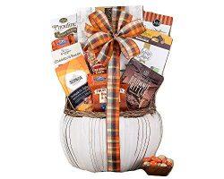 Thanksgiving Pumpkin Harvest Favorites Season Village Gift Basket
