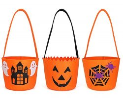 Halloween Bag Basket Pumpkin Spider Ghost Hunted House Decoration Candy Bucket Bag For Halloween ...