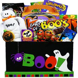 Boo! To You Candy and Snack Care Package Gift Box – Halloween Gift Basket