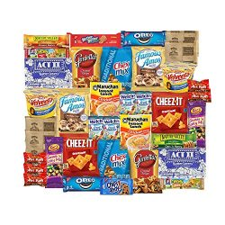 Care Package for College Students, Fathers Day, Birthday, Office Snacks and Gift Baskets (40 Cou ...