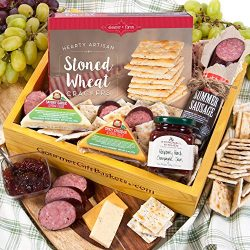 GourmetGiftBaskets.com Holiday Meat and Cheese Gift Basket Crate – Gourmet Food Gift Baske ...