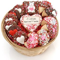 I Love You Now and Forever Sweets Gift Basket