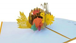 iGifts And Cards Unique Horn of Plenty Happy Thanksgiving 3D Pop Up Greeting Card – Pumpki ...