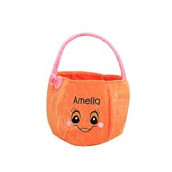 Gbell Kids Halloween Candy Basket Toys Gift – Bats Pumpkin Basket Home Decor for Toddler K ...