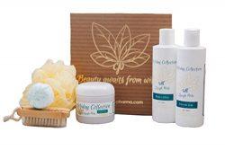 Special Home Spa Gift Set with Body Lotion, Shower Gel, Sugar Scrub, Loofah Bath Sponge, Bath Bo ...