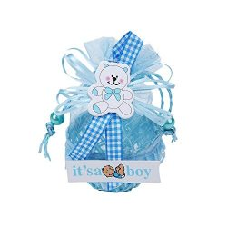 Turnon 36pcs Approx 8x10cm Yarn Basket Candy Box Boy Gift Bags Baby Shower Birthday Party Decora ...