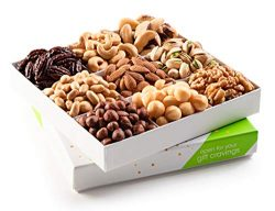 Nut Cravings Holiday Mixed Nuts Gift Basket – Gourmet Christmas Roasted Healthy Fresh Food Care  ...