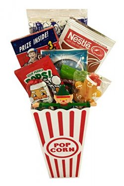 Christmas Gift Basket – Filled Popcorn Buckets and Red Box Code – Movie Theater Cand ...