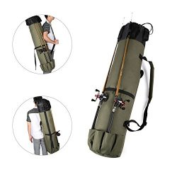 Wowelife Fishing Rod Carrier Fishing Reel Organizer Pole Storage Bag for Fishing and Traveling,A ...