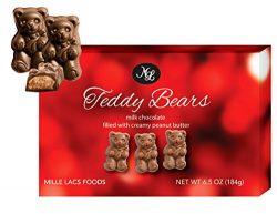 Box of Milk Chocolate Animal Shaped Peanut Butter Bears 6.5 Ounces Each Popular Gift Basket Idea ...