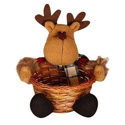 ❤️Yanvan❤️Christmas Decorations, New Year Gifts Christmas Candy Storage Basket Decoration Santa  ...