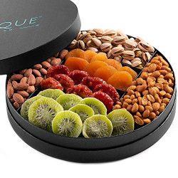 Gourmet Nut and Dried Fruit Gift Tray – 10″, Freshly Roasted Assorted Nuts & Dri ...