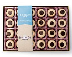 Thumbs Cookies Large Gift Box of Fresh Baked Gourmet Cookies – All Chocolate Chip Cookies  ...