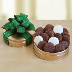 Happy St. Patrick's Day Chocolate Dipped Sandwich Cookies by The Gift Basket Gallery