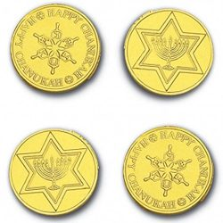 Madelaine Solid Premium Milk Chocolate Traditional Hanukkah/Chanukah Gold Coins Wrapped In Itali ...