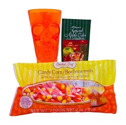 Halloween Hot Cider and Candy Gift Basket – Includes Goblet, Candy, and Treats – Gre ...