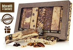 The Biscotti Factory Combo Variety Pack Biscotti Gift Box, Individually Wrapped Biscottis, Hand  ...